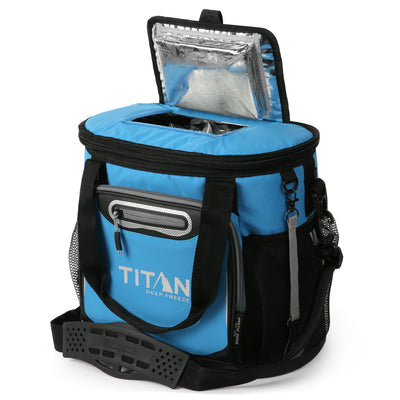 Titan Deep Freeze 24 Can Bucket Tote - Blue - Easy access lid
