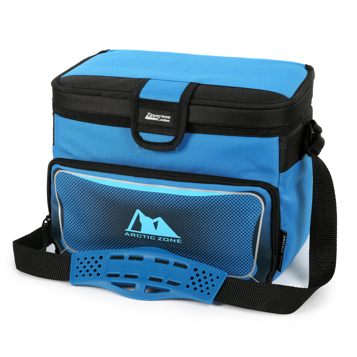 Arctic Zone® 12 Can Zipperless™ HardBody® Cooler - Blue - Closed
