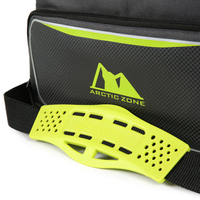 Arctic Zone® 12 Can Zipperless™ HardBody® Cooler - grey/green - Backsaver anti-slip shoulder pad