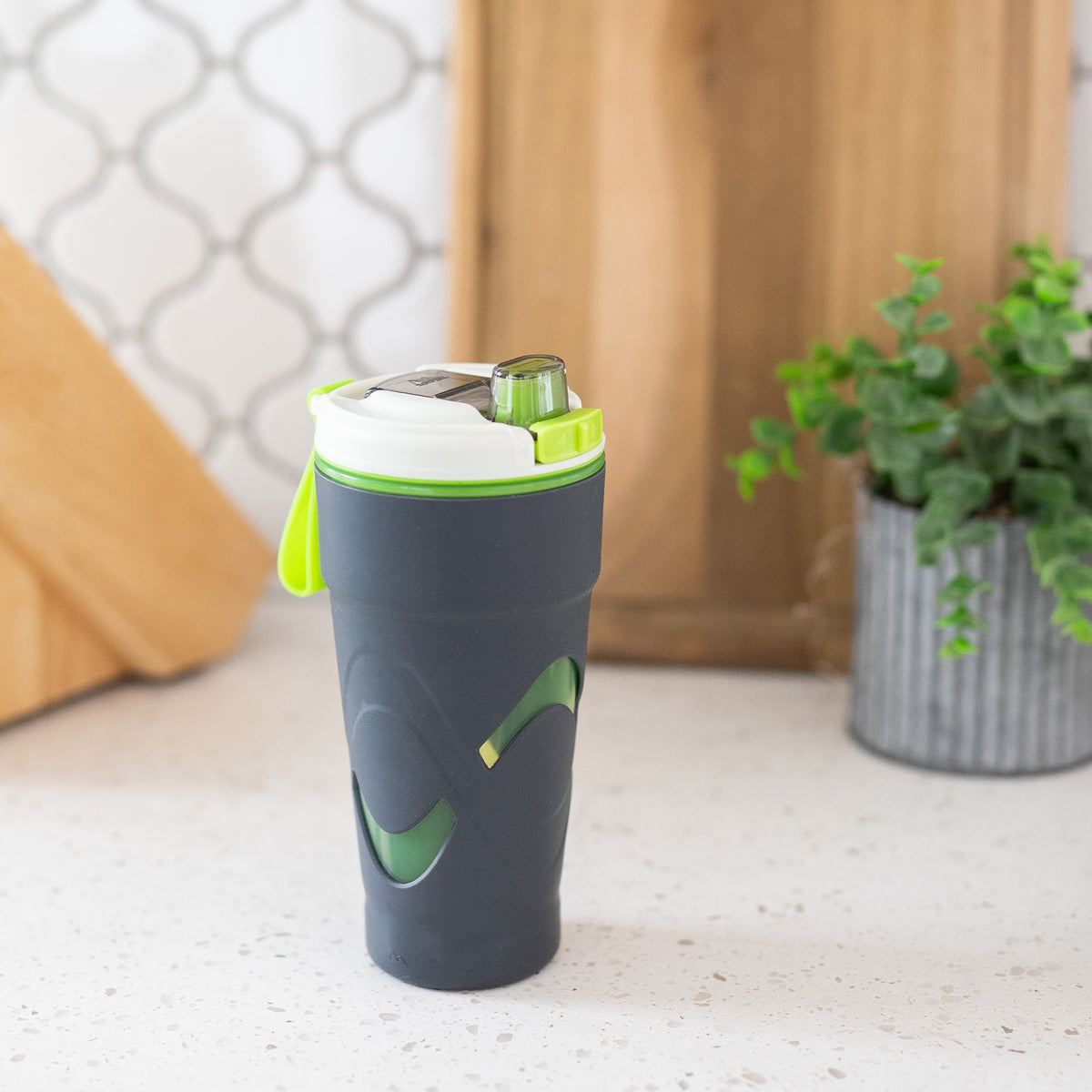 Arctic Zone® 20oz Super Chug™ - Gray - Lifestyle, tumbler resting on the counter