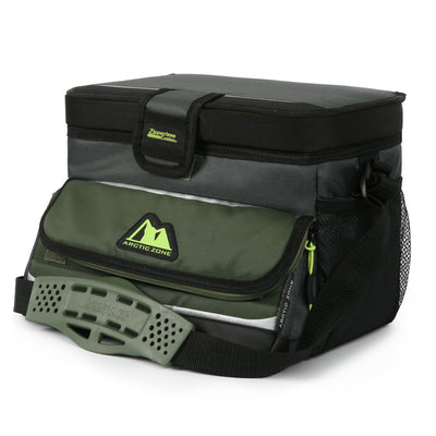 Arctic Zone® 16 (12+4) Can Ultimate Zipperless™ HardBody® Cooler - green - Closed
