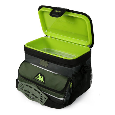 Arctic Zone® 16 (12+4) Can Ultimate Zipperless™ HardBody® Cooler - Green - Open, empty