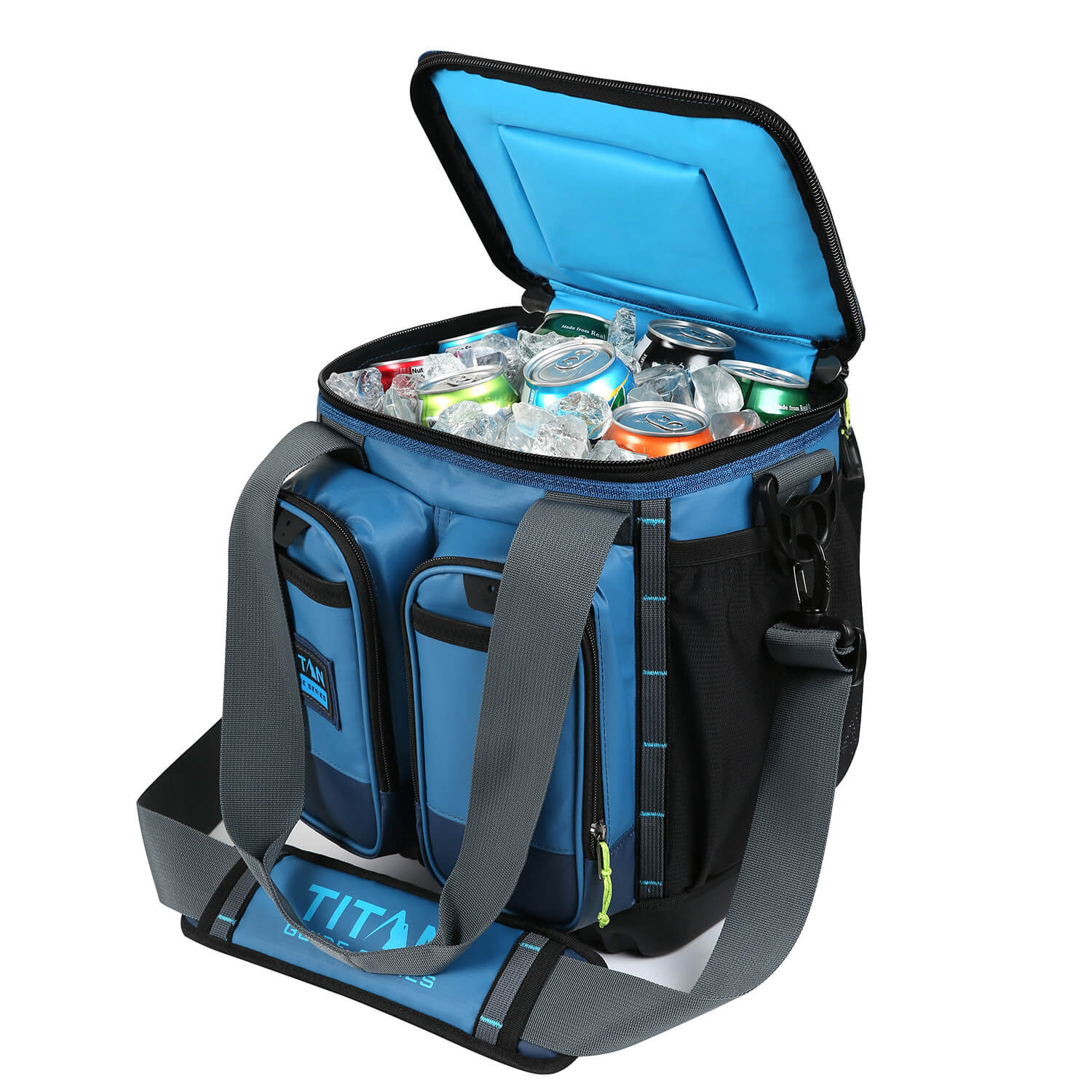 Titan Guide Series™ 16 Can Cooler - Open, propped