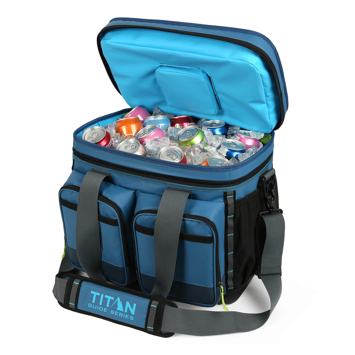 Titan Guide Series™ 36 Can Cooler - Open, propped