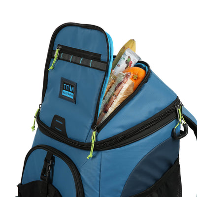 30 Can Titan Guide Series Backpack Cooler - top pocket detail
