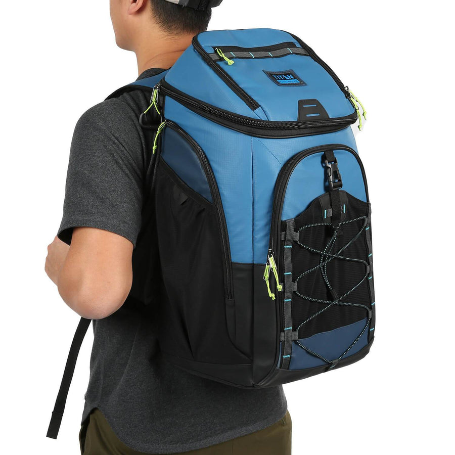 30 Can Titan Guide Series Backpack Cooler - model carry