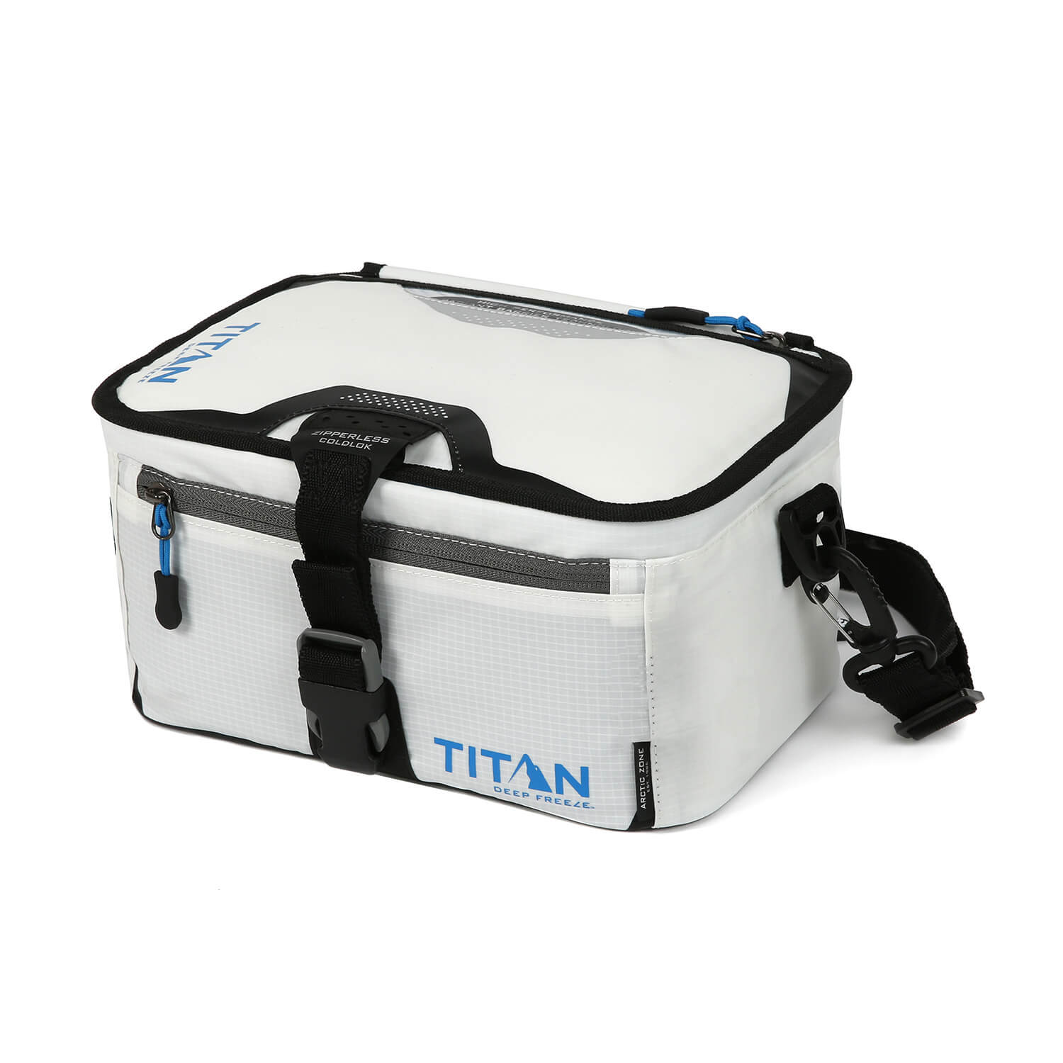 Titan Deep Freeze® Zipperless™ Lunch Box - White - Closed