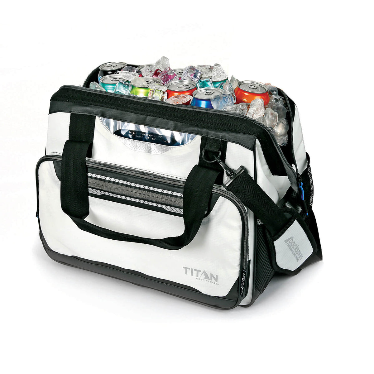 Titan Deep Freeze® 40 Can Duffel - Open, propped