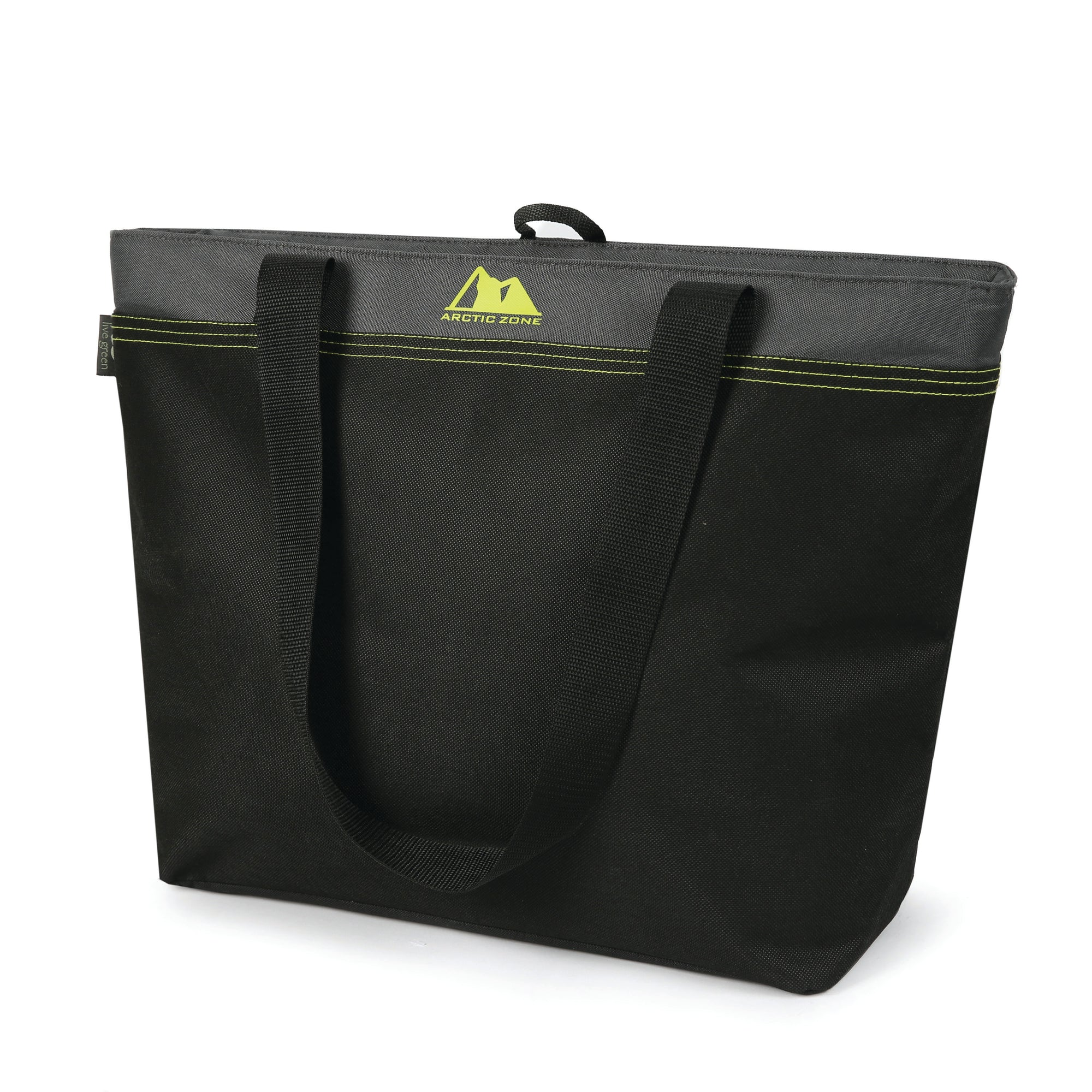 45 Can Eco Blend™ Freezer Tote - Green - Front, closed
