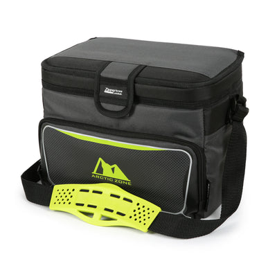 Arctic Zone® 12 Can Zipperless™ HardBody® Cooler - grey/green - Closed