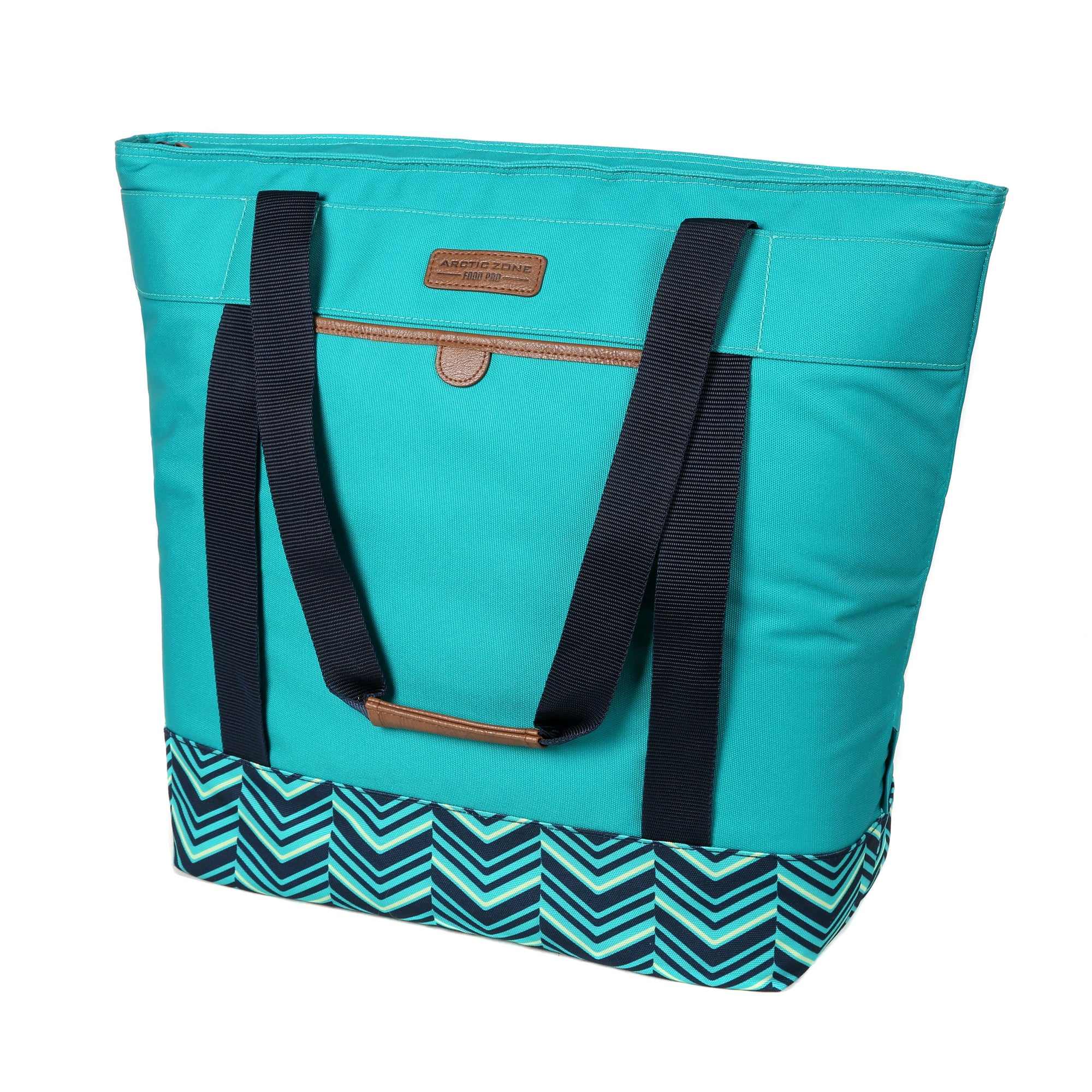 Arctic Zone® Food Pro Jumbo Thermal Tote - Teal - Front, closed