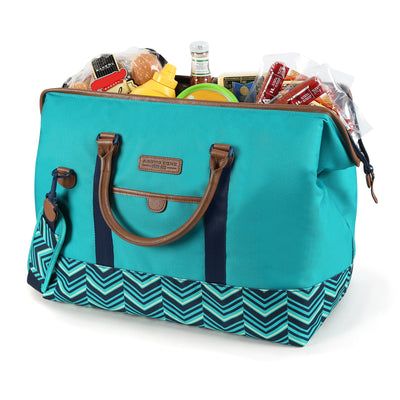 Arctic Zone® Food Pro Insulated Picnic Satchel - Open, propped