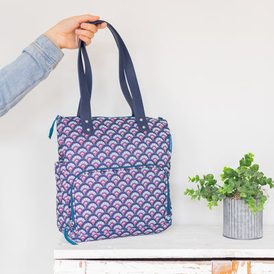 Arctic Zone® Abigail Tote - Marker Scallop - Lifestyle, grabbing the bag and out the door