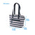 "Arctic Zone® Bennet Tote - Mixed Stripes - Dimensions: (L x D x H) 13.75"" x 5.00"" x 9.50"""