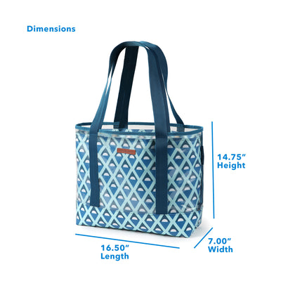 "Arctic Zone® 30 Can 2-in-1 Beach Tote - Diamonds - Dimensions: (L x W x H) 16.50"" x  7.00"" x 14.75"""