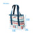"Arctic Zone® 30 Can 2-in-1 Beach Tote - Stripes - Dimensions: (L x W x H) 16.50"" x  7.00"" x 14.75"""