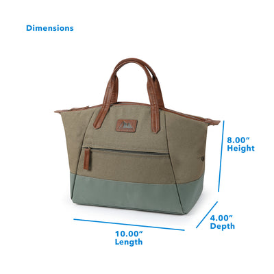 "Arctic Zone® Canvas Lunch Tote - Moss - Dimensions: (L x D x H) 10.00"" x 4.00"" x 8.00"""