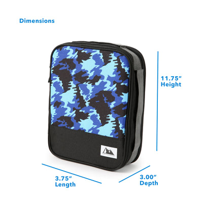 "Arctic Zone® Expandable Urban Lunch Pack - Smudge Camo - Dimensions (L x D x H) 3.75"" x 3.00"" x 11.75"""
