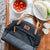 Arctic Zone® Canvas Lunch Tote - Black - Lifestyle, unpacking lunch