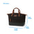 "Arctic Zone® Canvas Lunch Tote - Black - Dimensions: (L x D x H) 10.00"" x 4.00"" x 8.00"""