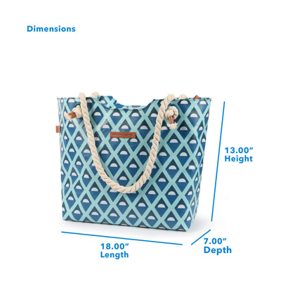 "Arctic Zone® 16 Can Oversized Commuter Beach Tote - Diamonds - Dimensions: (L x D x H) 18.00"" x 7.00"" x 13.00"""