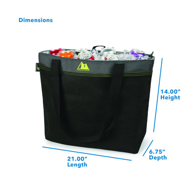 "Arctic Zone® 45 Can Eco Blend™ Freezer Tote - Green - Dimensions: (L x D x H) 21.00"" x 6.75"" x 14.00"""