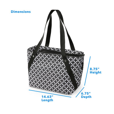 "Arctic Zone® Commuter Tote  - Delicate Daisies - Dimensions: (L x D x H) 14.63"" x 6.75"" x 8.75"""