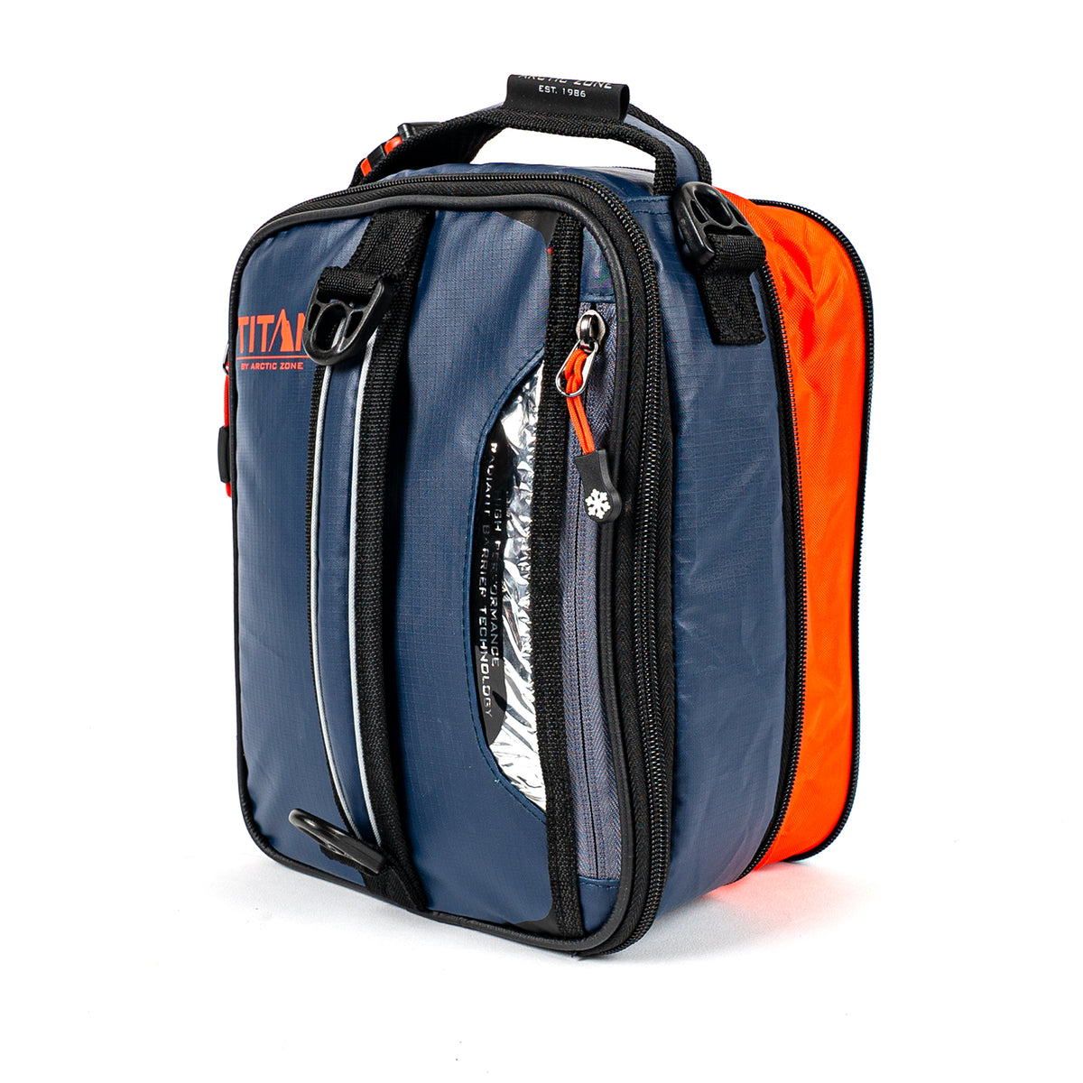 Titan Deep Freeze® Expandable Lunch Box - Navy - Front, expanded, closed