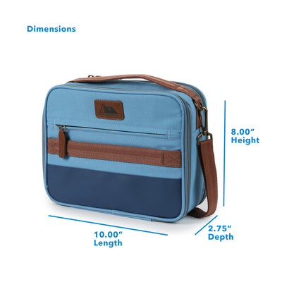 "Arctic Zone® Canvas Expandable - Blue - Dimensions (L x D x H) 10.00"" x 2.75"" x 8.00"""