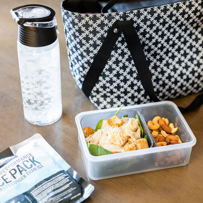 Arctic Zone® Commuter Tote - Delicate Daisies - Lifestyle, prep lunch at home