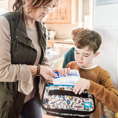 Arctic Zone® Ice Walls® Lunch Box - video game - Lifestyle, mom helping son pack ice wall