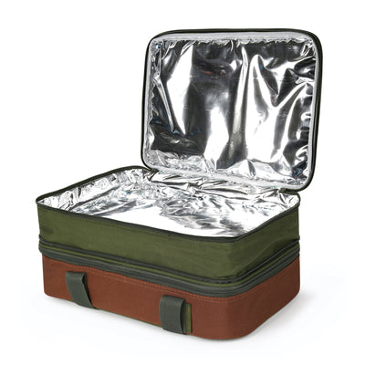 Arctic Zone® Food Pro Expandable Thermal Carrier - Green - Open top empty