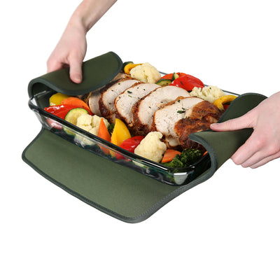 Arctic Zone® Food Pro Expandable Thermal Carrier - Green - Trivet propped