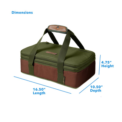 "Arctic Zone® Food Pro Expandable Thermal Carrier - Green - Dimensions: (L x D x H) 16.50"" x 10.50"" x 4.75"""