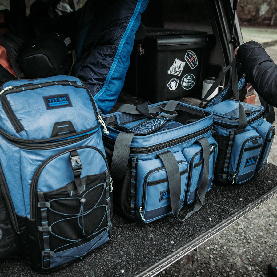 30 Can Titan Guide Series Backpack Cooler - lifestyle series