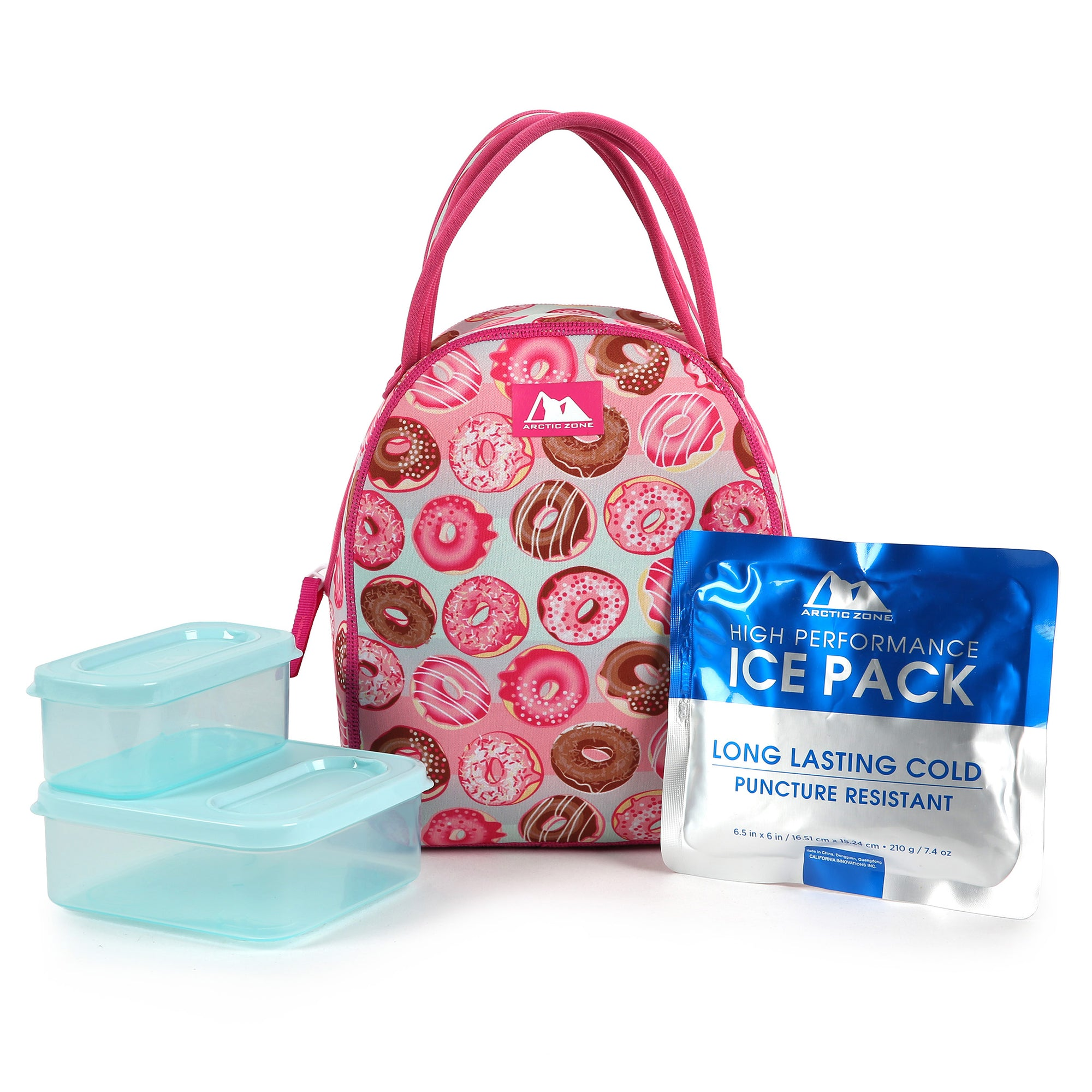 Arctic Zone® Neoprene Hannah Tote with 210gm Ice pack & 4 piece Kids Sandwich Set