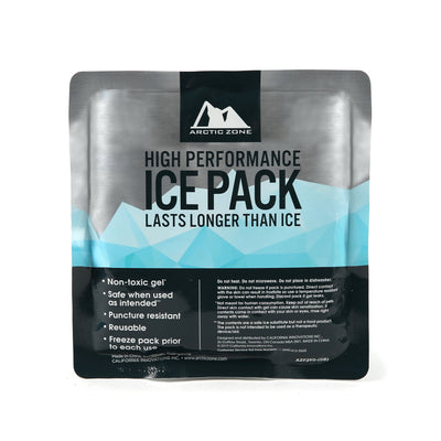 Arctic Zone® Set of 2 High Performance Ice Packs - Front - back