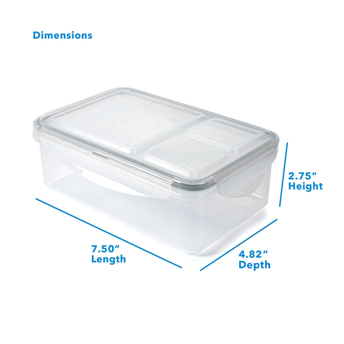 "Arctic Zone® High Performance Ultimate Secret Lunch Bucket - Black - Container Dimensions: (L x D x H) 7.50"" x 4.82"" x 2.75"""