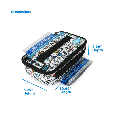 "Arctic Zone® Ice Walls® Lunch Box - Video Game - Dimensions: (L x D x H) 4.00"" x 10.00"" x 6.25"""