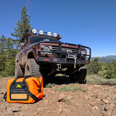 Arctic Zone® 30 Can Self-Inflating Cooler - lifestyle jeep