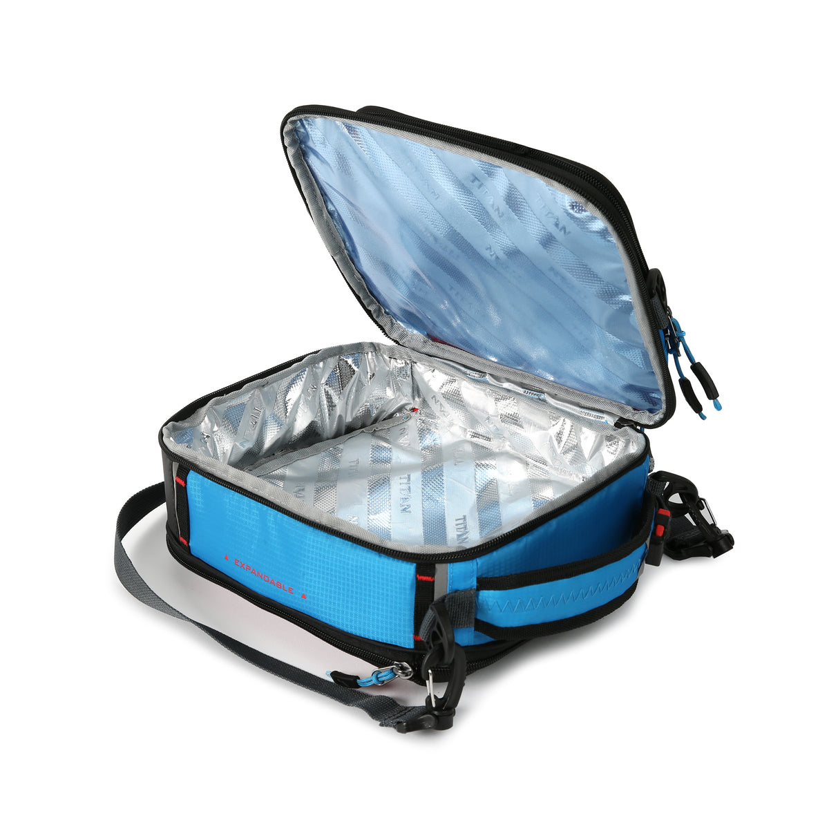 Titan X Dual Compartment Expandable Lunch Pack with 3 Ice Walls® - inside