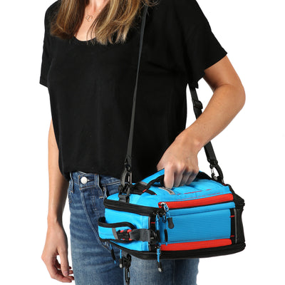Titan X Dual Compartment Expandable Lunch Pack with 3 Ice Walls® - 5 ways to carry - horizontal shoulder strap