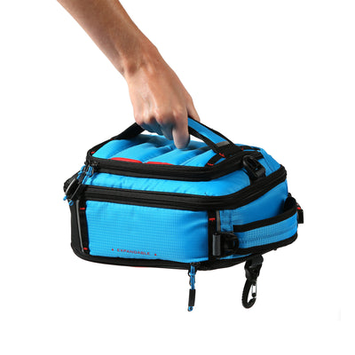 Titan X Dual Compartment Expandable Lunch Pack with 3 Ice Walls® - 5 ways to carry - horizontal handle