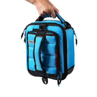 Titan X Dual Compartment Expandable Lunch Pack with 3 Ice Walls® - 5 ways to carry - vertical handle