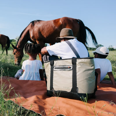 Titan Deep Freeze® 30 Can Insulated Tote - Lifestyle,  watching the horses