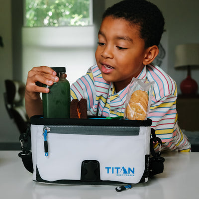 Titan Deep Freeze® Zipperless™ Lunch Box - White -  Lifestyle, packing lunch