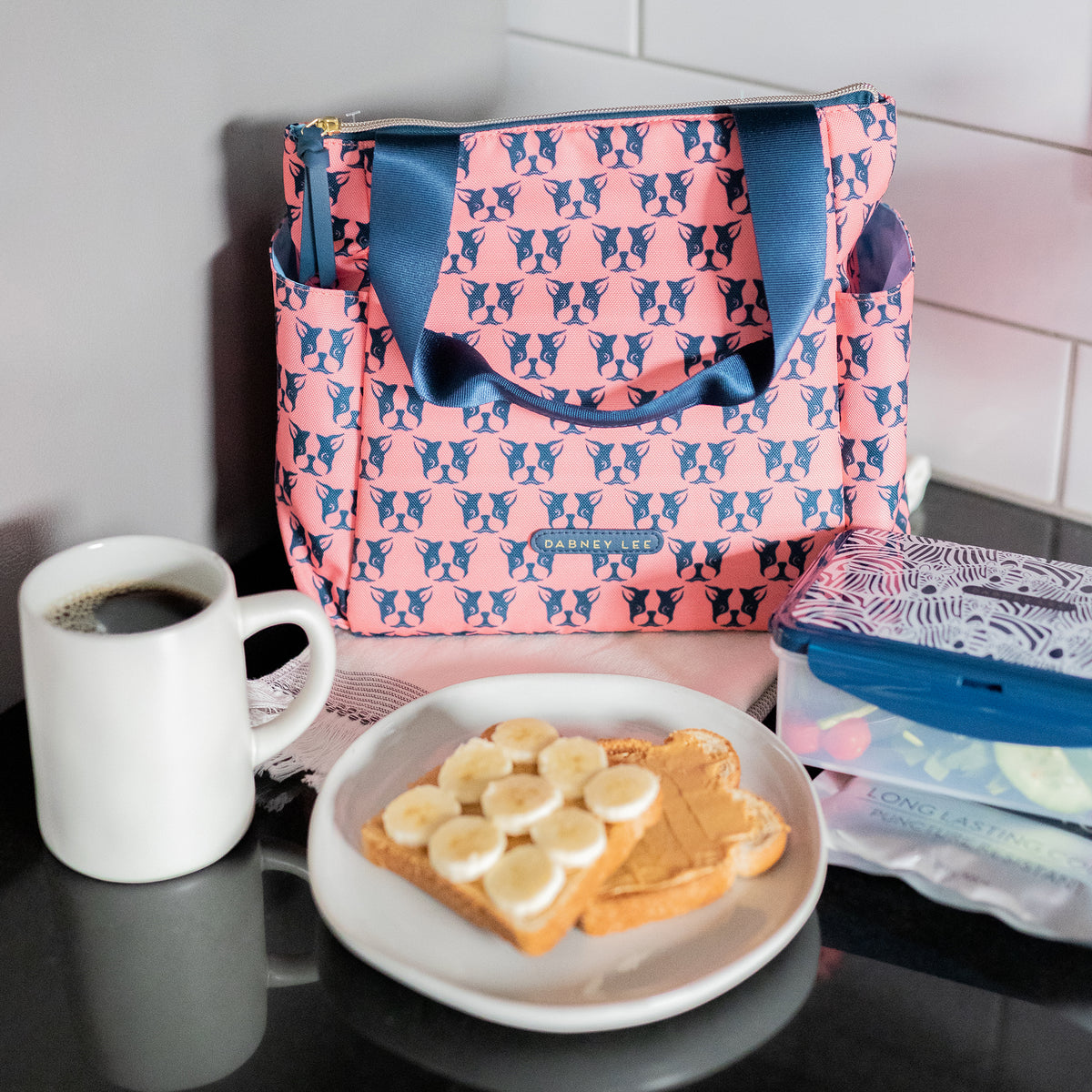 Arctic Zone® Dabney Lee Karina Tote - Polly Coral - Lifestyle, breakfast before work