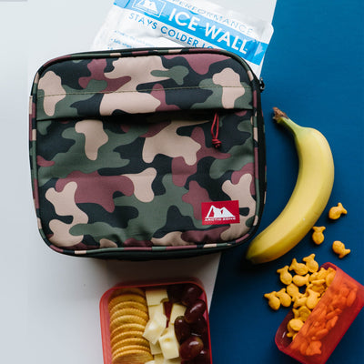 Arctic Zone® Classics Lunch Box - Camo - Lifestyle, Packing up snacks on table