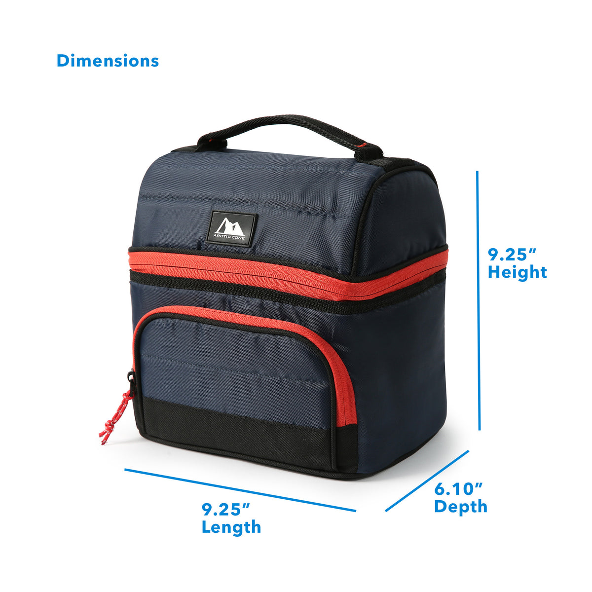 "Arctic Zone® High Performance Ultimate Secret Lunch Bucket - Navy - Dimensions: (L x D x H) 9.25"" x 6.10"" x 9.25"""