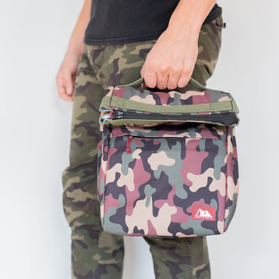 Arctic Zone® Kids Classics Lunch Sack - Camo - Lifestyle, waiting with the lunch sack